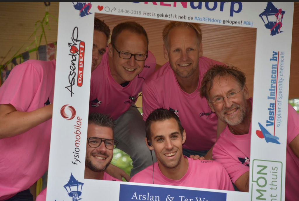 The team behind AsRENdorp, Zwolle's coziest running event.